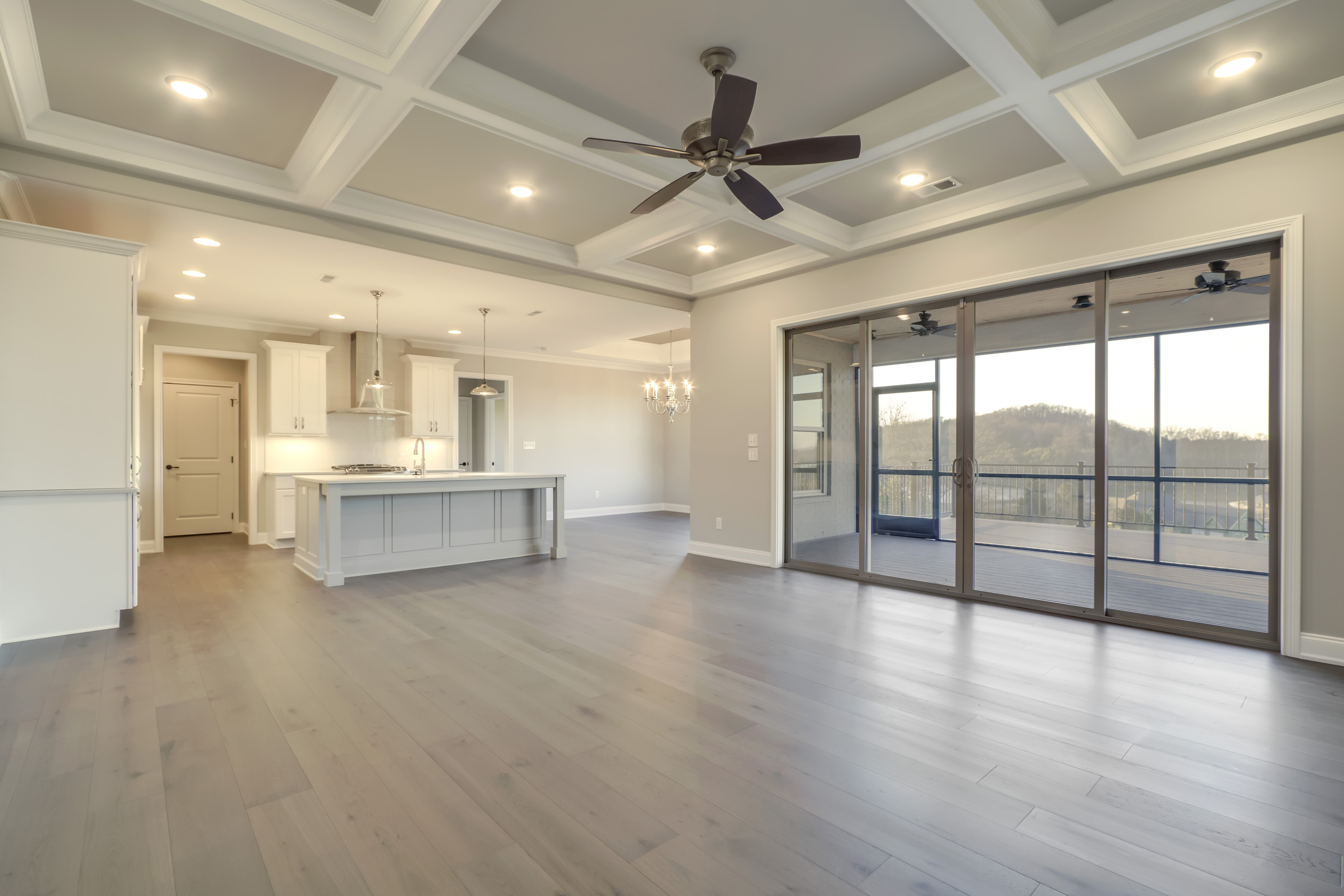 Cook Bros. Homes Kitchen and Living Area | Hummingbird Drive