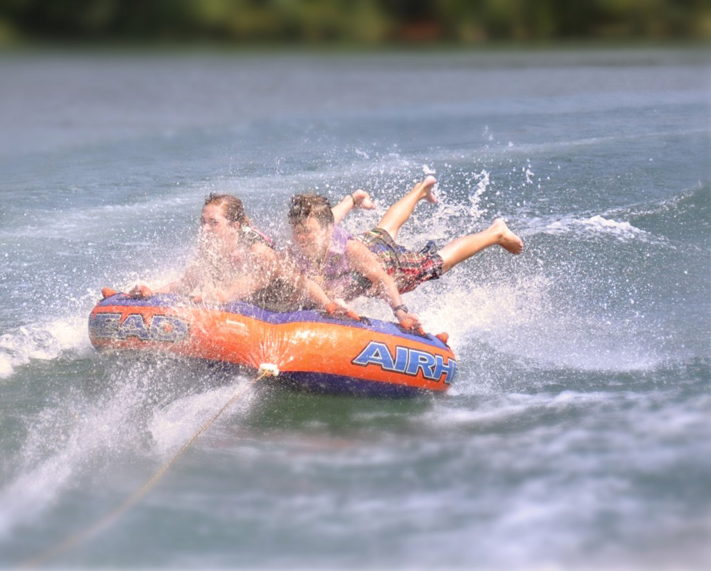 38. Your grandkids happen to love, love tubing