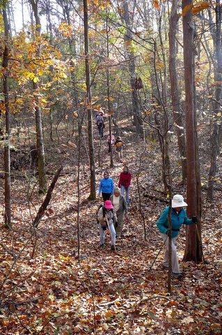 Ladies Who Hike on East Lakeshore's Sinking Creek Trail