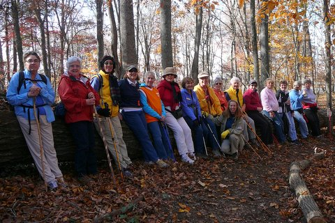 Ladies Who Hike on East Lakeshore's Lotterdale Trail