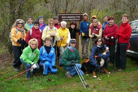 Ladies Hiking the East Lakeshore Trail