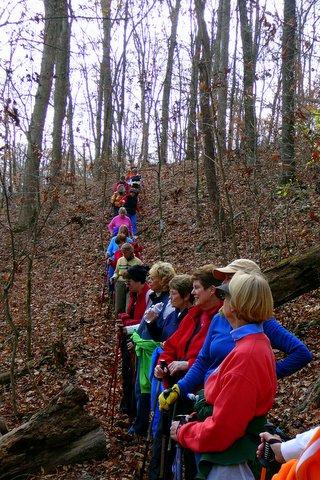 Ladies Who Hike on East Lakeshore's Jackson Bend Trail