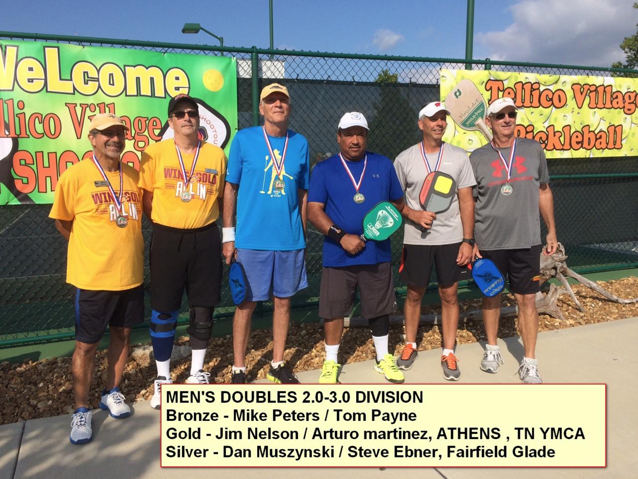 Men's Doubles 2.0 - 3.0 Division