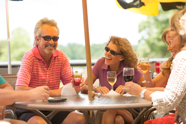 Tellico Villagers socializing at the Tellico Village Yacht Club