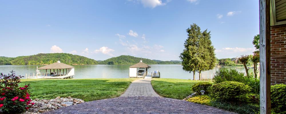 Gazebo on the lake in Tellico Village