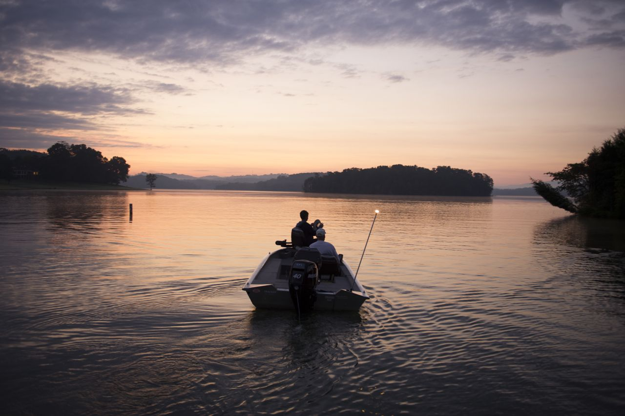 Tellico Lake | Men on Fishing Boat