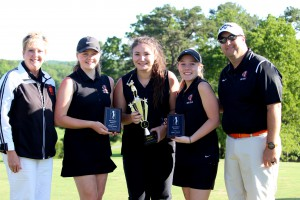 golf girls win district