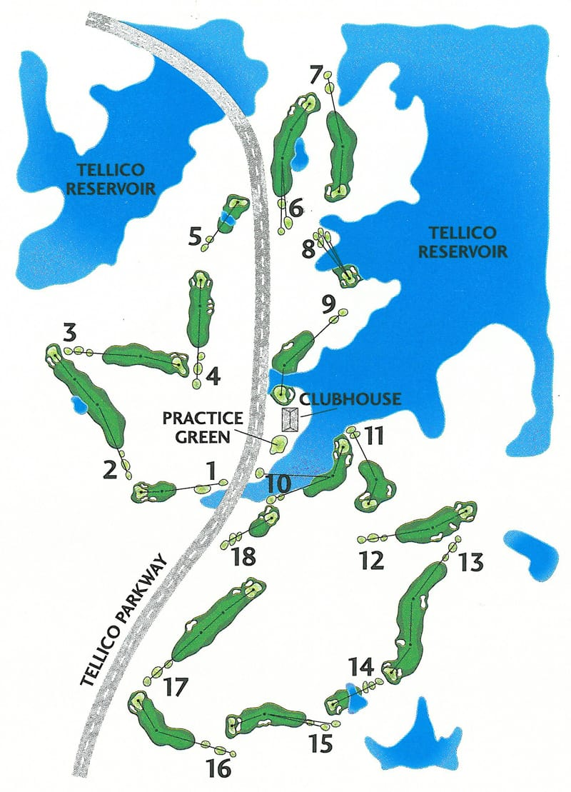 Tanasi Golf Course map