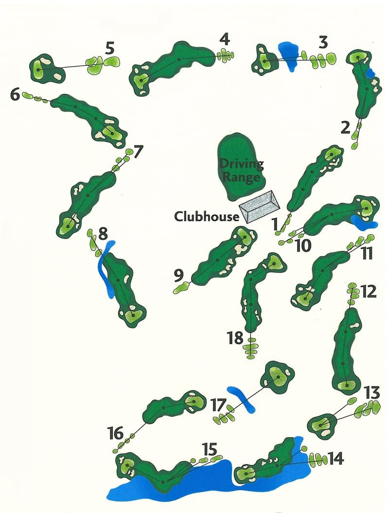 Toqua Golf Course Map