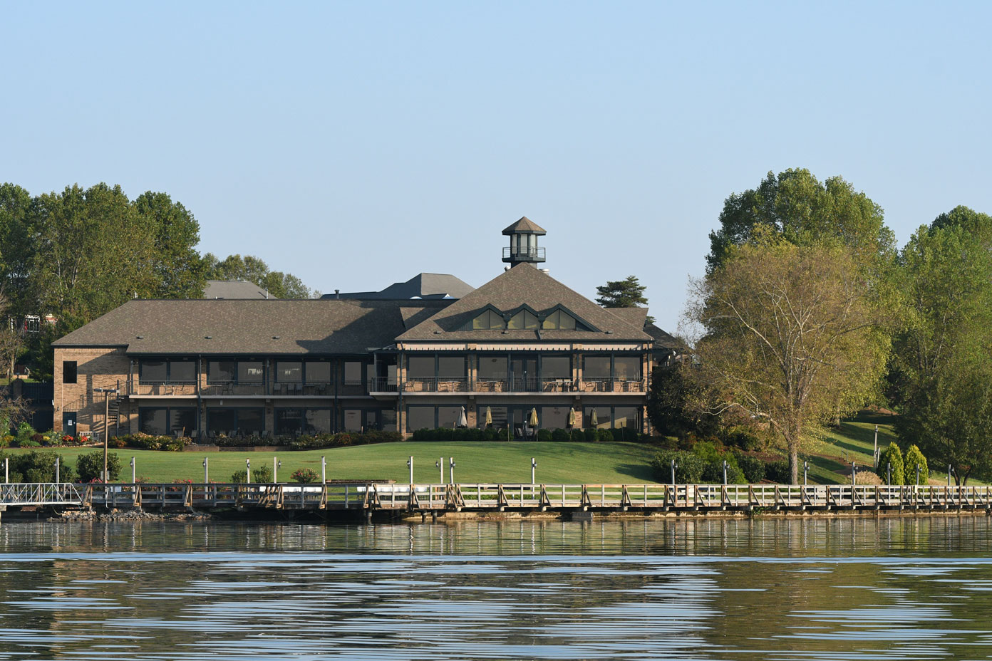View of the Tellico Village Yacht Club from the lake.